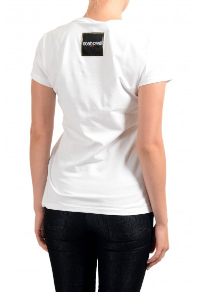 "Roberto Cavalli ""Sport"" Women's White Graphic Print Crewneck T-Shirt: Picture 2"