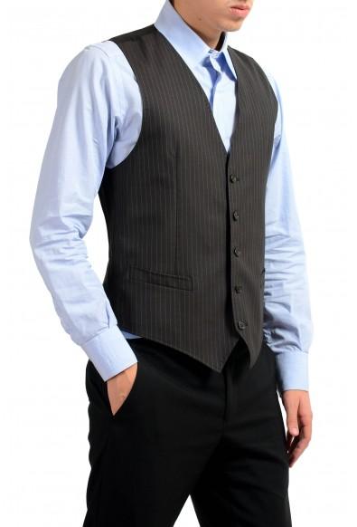 Dolce & Gabbana Men's 100% Wool Brown Striped Button Up Dress Vest : Picture 2