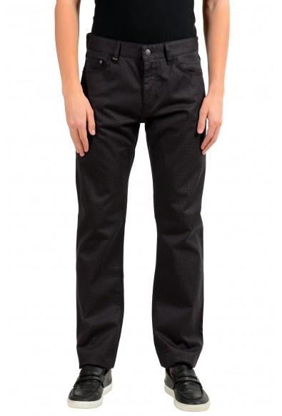 """Hugo Boss """"Maine3-20"""" Men's Plaid Regular Fit Straight Leg Jeans"""