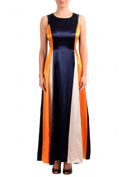 """Hugo Boss Women's """"Kanisi"""" Multi-Color Maxi Sleeveless Sundress Dress"""