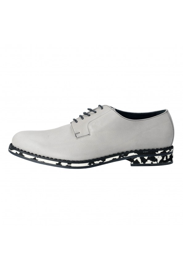 Jimmy Choo Men's Leather Alaric Cloud Gray Lace Up Oxfords Shoes: Picture 2