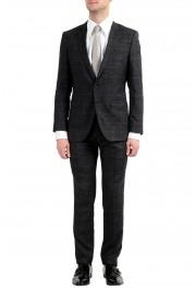 """Hugo Boss """"Huge6/Genius5"""" Men's Linen Silk Wool Slim Fit Gray Two Button Suit"""
