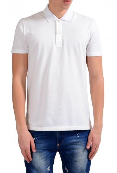 Malo Men's White Stretch Short Sleeve Stretch Polo Shirt