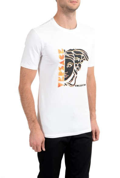 Versace Collection Men's White Graphic Crewneck T-Shirt: Picture 2