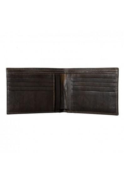 Isaia 100% Leather Dark Brown Men's Bifold Wallet: Picture 2