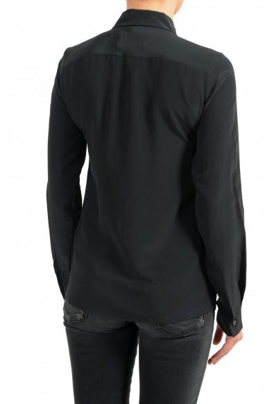 Maison Margiela 4 Women's 100% Silk Black Button Up Blouse Top: Picture 2