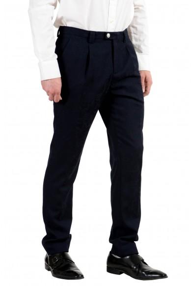 Versace Versus Men's 100% Wool Dark Blue Pleated Dress Pants: Picture 2