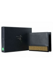 Giuseppe Zanotti Leather Black Gold Metal Beads Embellished Men's Bifold Wallet: Picture 3