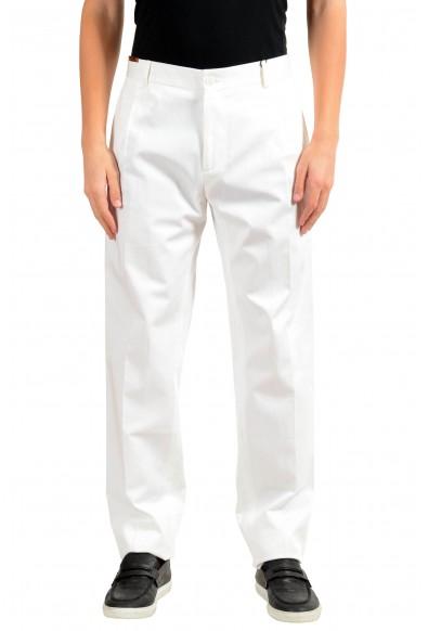 Dolce & Gabbana Men's White Pleated Dress Pants