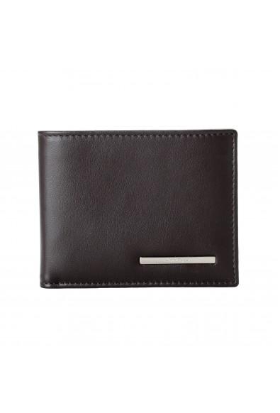Salvatore Ferragamo Men's Dark Brown Logo Decorated 100% Leather Bifold Wallet