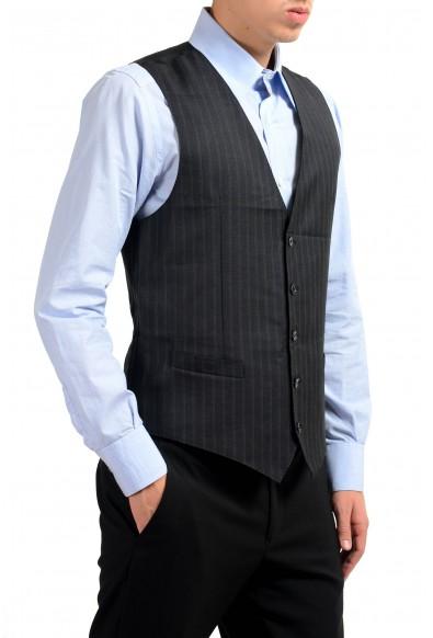 Dolce & Gabbana Men's 100% Wool Gray Striped Button Up Dress Vest: Picture 2
