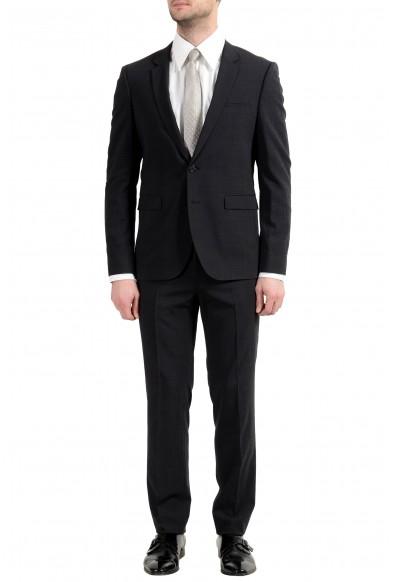 "Hugo Boss ""Phil/Taylor182"" Men's Wool Dark Gray Extra Slim Two Button Suit"