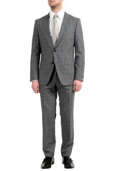 "Hugo Boss ""Novan5/Ben2"" Men's 100% Wool Gray Plaid Two Button Suit"