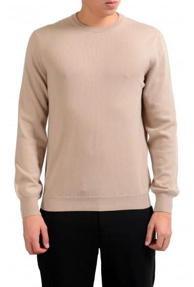 Malo Men's 100% Cashmere Beige Pullover Sweater