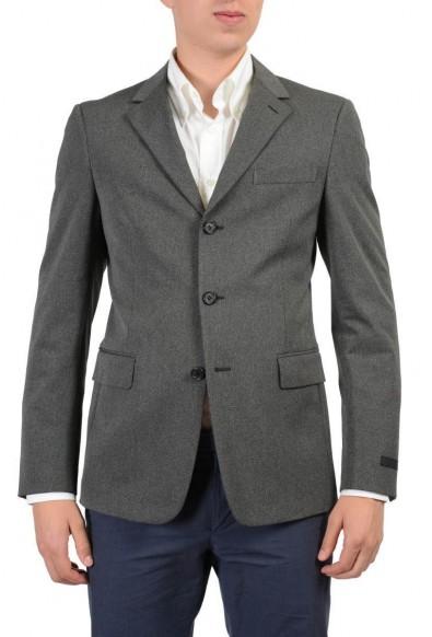 Prada Wool Gray Three Buttons Men's Blazer