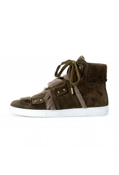 Salvatore Ferragamo Women's SOLDA Suede Fur Sneakers Boots Shoes: Picture 2