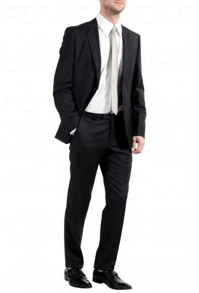"""Hugo Boss """"Johnstons3/Lenon1"""" Men's 100% Wool Dark Gray Striped Two Button Suit: Picture 2"""