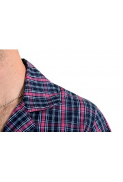 Hugo Boss Men's Plaid Long Sleeve Cotton Pajama Shirt: Picture 4