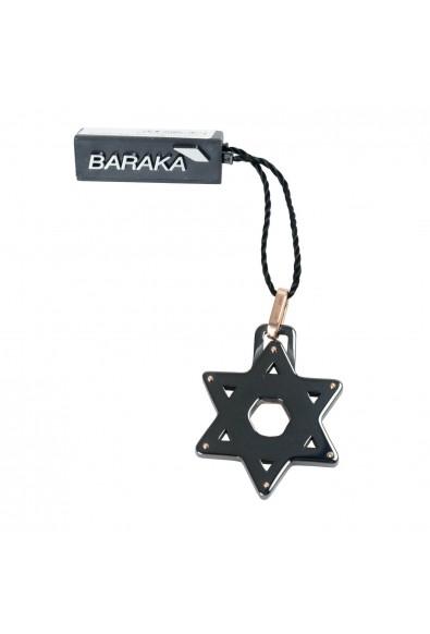 BARAKA Men's ST221521ROCB000000 Rose Gold Black Ceramic Star Of David Pendant: Picture 2
