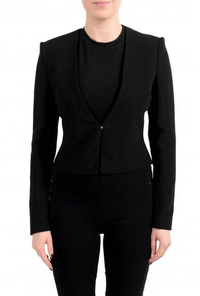 """Hugo Boss Women's """"Jisuneri"""" Black Cropped Blazer"""