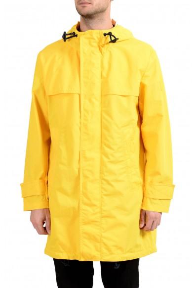 """Hugo Boss """"Urain"""" Men's Yellow Full Zip Hooded Windbreaker Coat"""