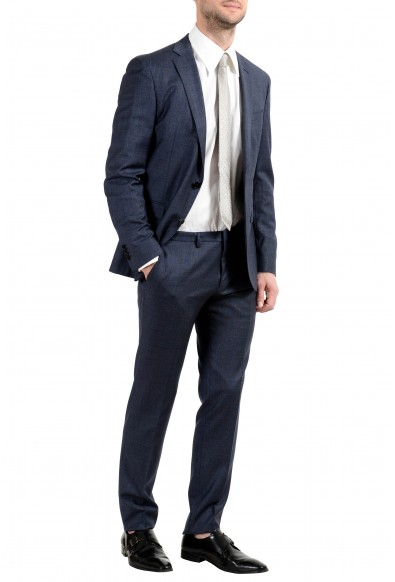 """Hugo Boss """"Reyno4/Wave2"""" Men's 100% Wool Extra Slim Bluish Two Button Suit: Picture 2"""