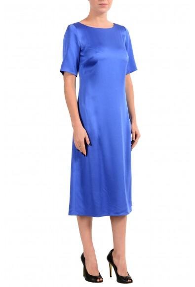 "Hugo Boss ""Dibeca"" Women's Blue Short Sleeve Sheath Dress : Picture 2"
