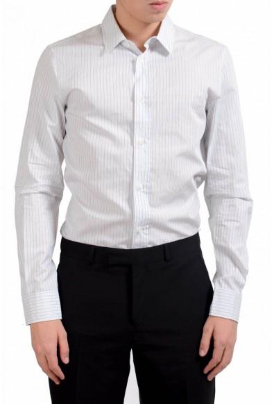 Maison Margiela 14 Men's Slim Striped Long Sleeve Casual Shirt