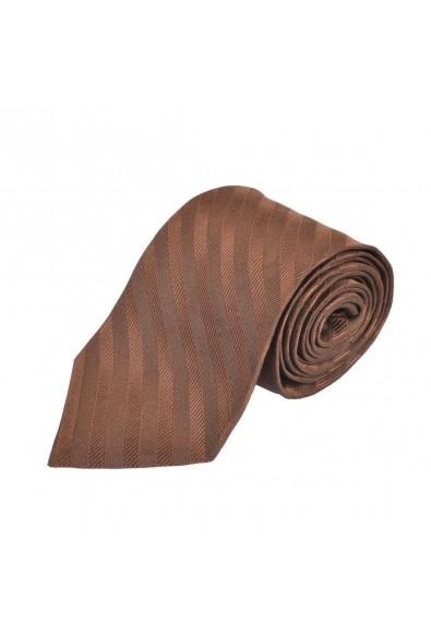 Etro 100% Silk Brown Striped Neckwear Men's Tie