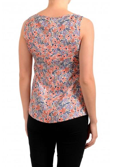 "Hugo Boss Women's ""Ibla"" Floral Print 100% Silk Sleeveless Blouse Top: Picture 2"