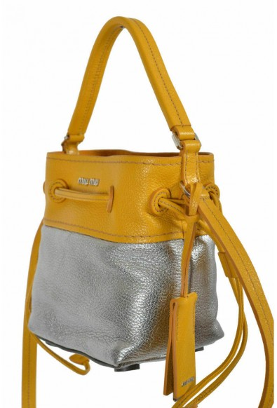 Miu Miu Women's Two Tone Leather Bucket Handbag Shoulder Bag