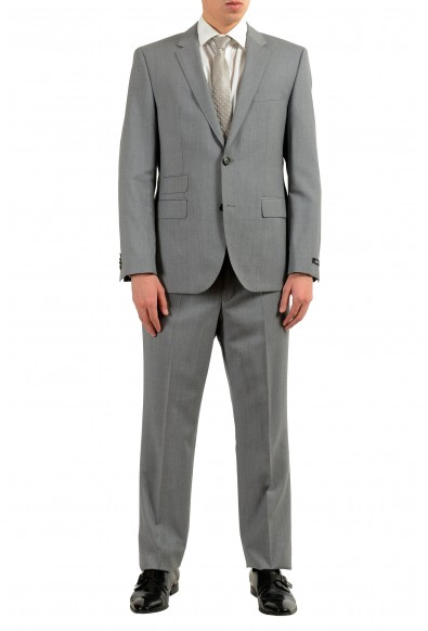 """Hugo Boss """"Kings/Central_1"""" Men's 100% Wool Gray Two Button Suit"""