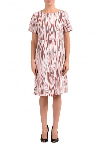 "Hugo Boss ""Daprinta"" Women's Patterned Short Sleeve Sheath Dress"