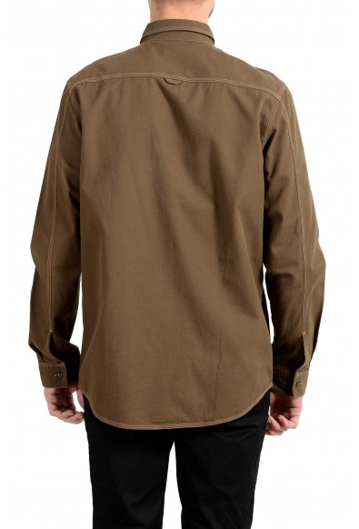 "Hugo Boss ""Ellem"" Men's Olive Green Long Sleeve Casual Shirt: Picture 2"