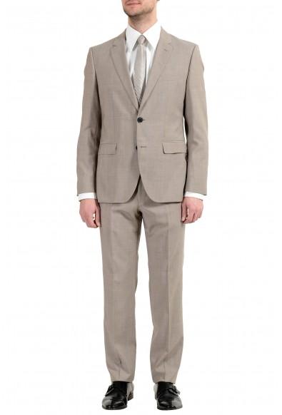 """Hugo Boss """"Jeffery/Simmons182"""" Men's 100% Wool Beige Two Button Suit"""