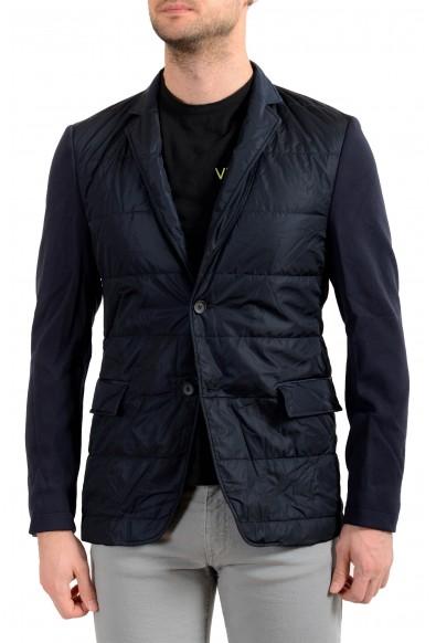 """Hugo Boss Men's """"Havon1-J"""" Blue Insulated Two Button Blazer Jacket"""