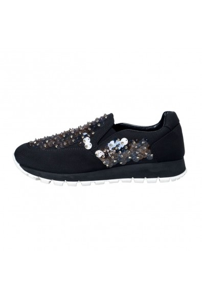 Prada Women's Sequin Decorated Moccasins Loafers Slip On Shoes: Picture 2