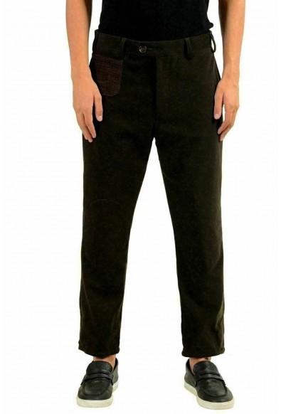 Moncler Men's Wool Brown Casual Pants