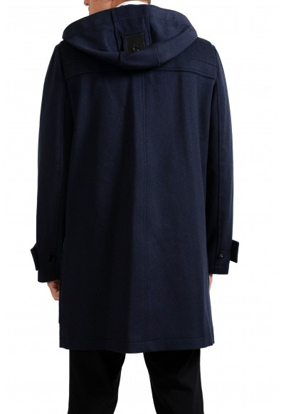 Christian Dior Men's Blue 100% Wool Full Zip Hooded Coat: Picture 2