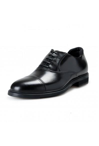 "Hugo Boss Men's ""Firstclass_Oxfr_GSU"" Black Leather Oxfords Lace Up Shoes"