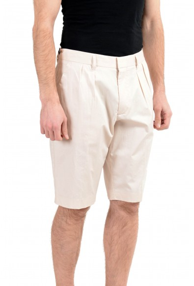 "Hugo Boss ""Kirio-Short-Pleats"" Men's Beige Pleated Casual Shorts : Picture 2"
