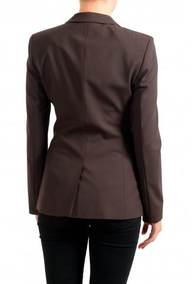 "Hugo Boss Women's ""Jacelynne"" Brown Wool Double Breasted Button Blazer: Picture 2"