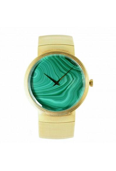 Christian Dior La D De Dior Malachite Dial Solid Swiss Gold Watch