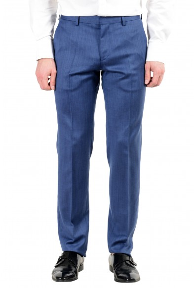 "Hugo Boss ""Hutson5/Gander2"" Men's 100% Wool Slim Blue Two Button Suit: Picture 2"