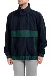 """Hugo Boss """"Okroos"""" Men's 1/2 Zip Multi-Color Hooded Windbreaker Jacket"""
