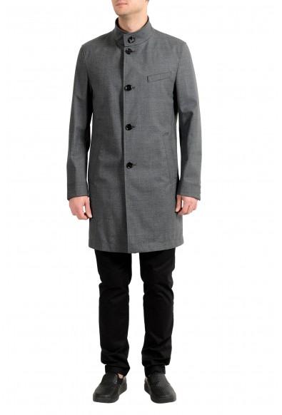"Hugo Boss ""Shanty1"" Men's Wool Gray Slim Fit Trench Coat"