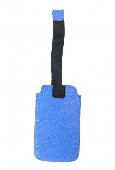Versace Collection Blue Pebbled Leather Key Chain: Picture 2