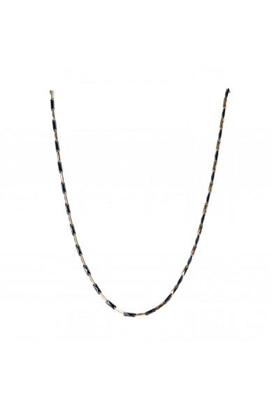 BARAKA Men's GC221101ROCN600002 Rose Gold Black Ceramic Diamond Chain Necklace