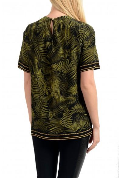 Versace Women's 100% Silk Multi-Color Short Sleeve Blouse Top: Picture 2