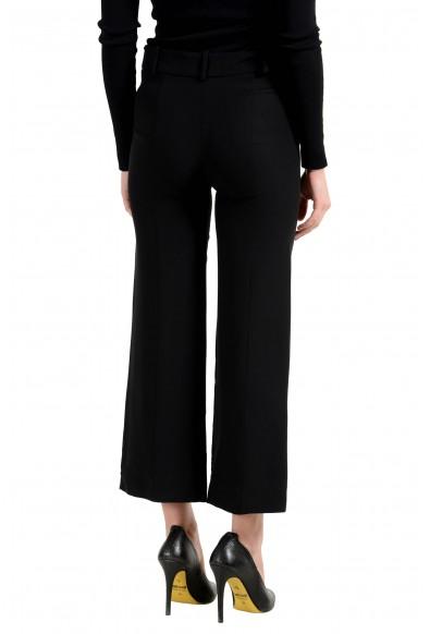 Versace Women's 100% Silk Black Cropped Wide Leg Pants: Picture 2